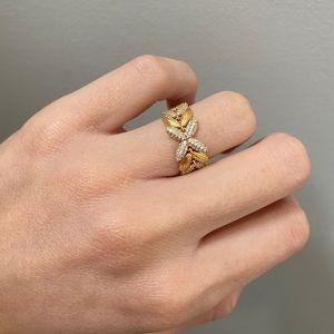 Pandora shine circle of seeds ring 18k gold plated